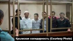 Фігуранти ялтинської «справи Хізб ут-Тахрір» у суді, архівне фото
