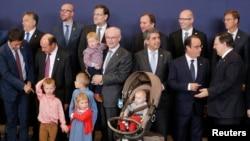 Участники саммита ЕС в Брюсселе (23 октября 2014 года)
