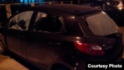 Експлозија на бомба пред штабот на СДСМ во Општина Карпош во Скопје.