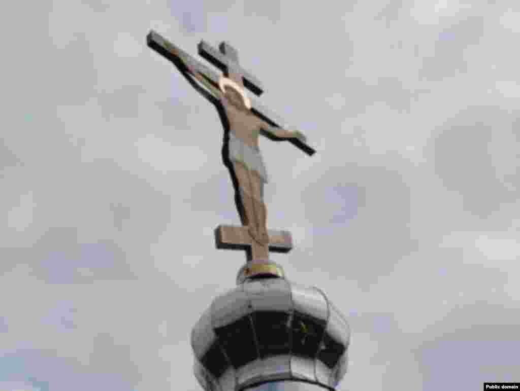 Кырымның Феодосия-Джанкой юлында урнаштырылган тәре