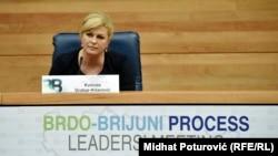 Претседателката на Хрватска, Колинда Грабар-Китаровиќ.