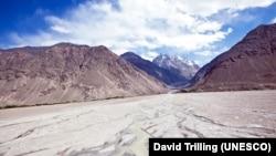 Tajikistan -- Wakhan Corridor looking into Afghanistan and Pakistan, Tajik National Park (Mountains of the Pamirs),2009.