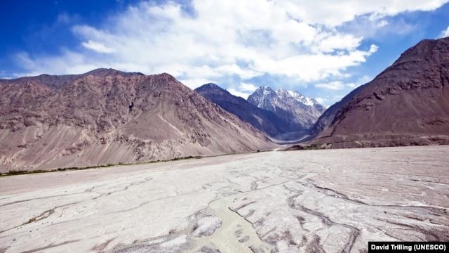 The Wakhan Corridor looking into Afghanistan and Pakistan, from Tajikistan