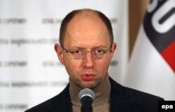 Liderul partidului de opoziție Batkivshchyna, Arseni Iațeniuk