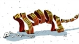 "Belarus - Sad (merry) pictures, cartoon, 05/06/2015, Belarus rejects the ""St.George ribbon"""