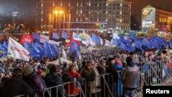 """Участники """"евромайдана"""" в Киеве 26 ноября 2013 года"""