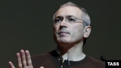 Mikhail Khodorkovsky in Kyiv in early March