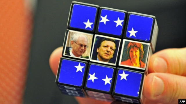 Herman Van Rompuy (left to right), Jose Manuel Barroso, and Catherine Ashton are all due to step down in 2014. Who will next take the seats of power in Brussels?