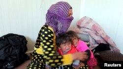 İraqda İŞİD-dən qaçanlar, arxiv fotosu