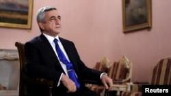 Նախագահ Սերժ Սարգսյանը հարցազրույց է տալիս նախագահական նստավայրում, արխիվ