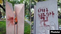 Холокост құрбандарына арналған ескерткіш. Ереван, Армения. (Көрнекі сурет).