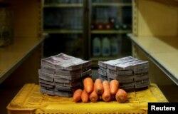 Кіляграм морквы можна купіць за 3 млн балівараў (46 цэнтаў)
