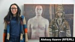 Сауле Сулейменова и ее работа «Келин 2». Алматы, 10 марта 2018 года.