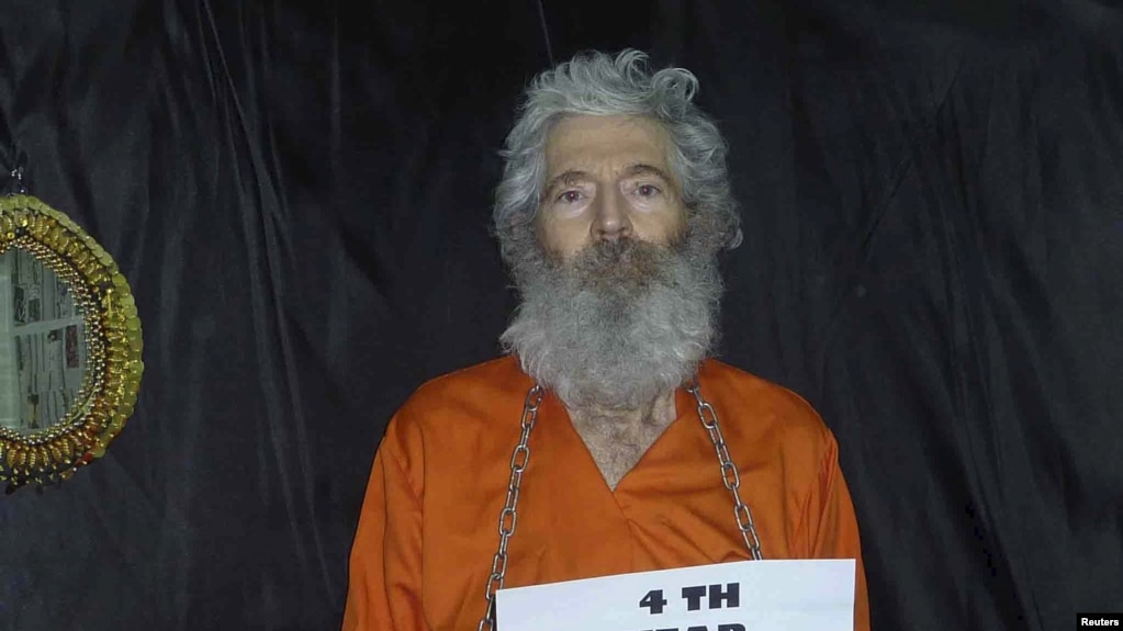 Hostage photo of Robert Levinson, a former FBI agent who disappeared in Iran in 2007