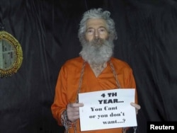 Robert Levinson, a former FBI and DEA agent in a rare photo released from his captivity.