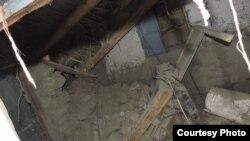 FIle photo of damage caused by an earthquake in Tajikistan.