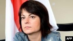 Belarusian journalist Natallya Radzina (file photo)