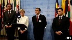 """Главы МИД стран, инициировавших создание трибунала по расследованию обстоятельств уничтожения малайзийского """"Боинга"""" над Донбассом"""