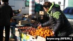 Абхазские мандарины на российском рынке