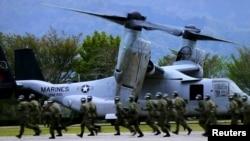 Militari americani la exerciții în Japonia