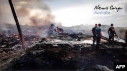 """Место крушения сбитого """"Боинга"""", 17 июля 2014 года"""