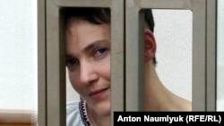 Украинская военнослужащая Надежда Савченко на суде по ее делу. Донецк, 1 февраля 2016 года.