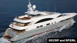 Яхта Prima, формально принадлежащая нефтяной компании SOCAR, которая используется для отдыха семьи президента Азербайджана, фото OCCRP