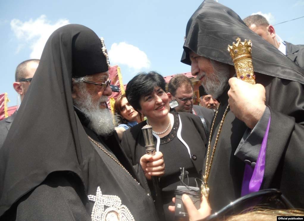 Catholicos-Patriarch Illya of All Georgia and Catholicos-Patriarch Karekin II of All  Armenia