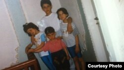 An undated family photo of Tamerlan and Dzhokhar Tsarnaev and their sisters, taken in their old Kyrgyzstan home
