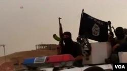 شبهنظامیان داعش در تصویری که در سوریه گرفته شده است