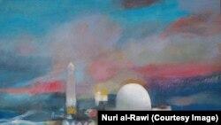 لوحة للفنان نوري الراوي