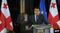 MIkheil Saakashvili gjatë fjalimit vjetor në zyrën e tij në Tbilisi