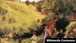 Рычард Рэдгрэйв, «Апошні погляд эмігрантаў на дом» (1858)