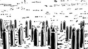 """Ilustracija iz stripa """"Prešli su"""""""