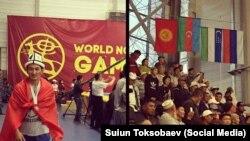 Сүрөттө азербайжандардын күрөшүнөн 70 килограммга чейин салмакта күмүш байге уткан Бекжан Токтобаев. 5-сентябрь, 2016-ж.
