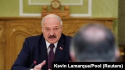 Аляксандар Лукашэнка падчас сустрэчы з Майкам Пампэо