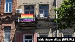 Georgia - Orthodox protest at LGBT office.