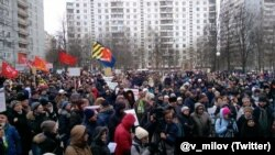 Митинг в Теплом Стане 14 февраля