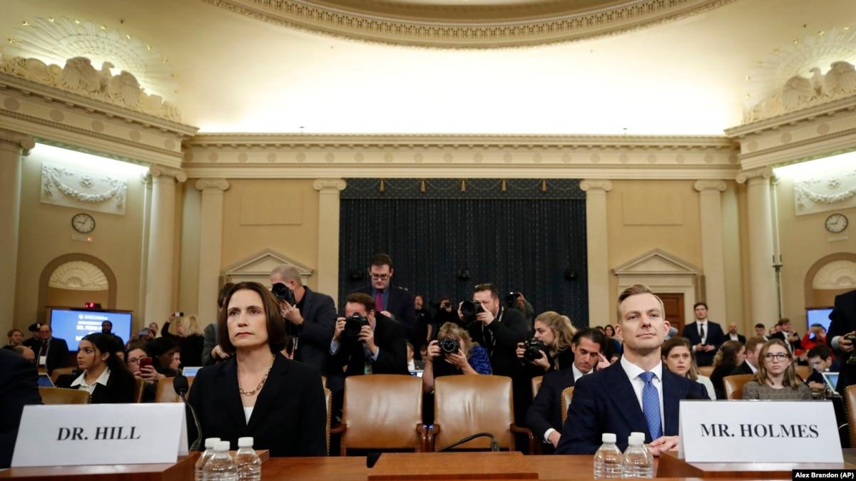 Последний день публичных слушаний в США: в Конгрессе слушают Фиону Хилл и Дэвида Холмса