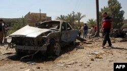 Pamje nga një sulm i mëparshëm me makinë-bombë në lagjen Baladijat në Bagdad