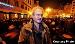 Croatia, Dan Alexe în decembrie 2011, la Zagreb, când scria despre protestele anti-HDZ pentru cotidianul croat Jutarnji List
