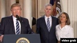 Prezident Donald Trump Neil Gorsuch-u Ali Məhkəmə hakimliyinə nominasiya edərkən