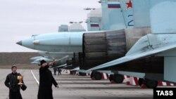 Российская авиация на аэродроме «Бельбек». Архивное фото