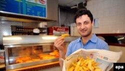 """В одном из британских магазинов """"Fish & chips"""""""