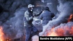 Так выглядел украинский Майдан (фото сделано в центре Киева 18 февраля 2014 года). Как будет выглядеть русский?