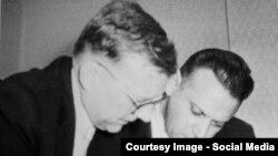 Dmitri Șostakovici cu dirijorul Kiril Kondrașin în 1962