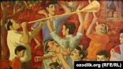 "Uzbekistan - ""Wedding"" a painting by People's Artist of Uzbekistan, professor Gofur Qodirov, 26Jul2011"