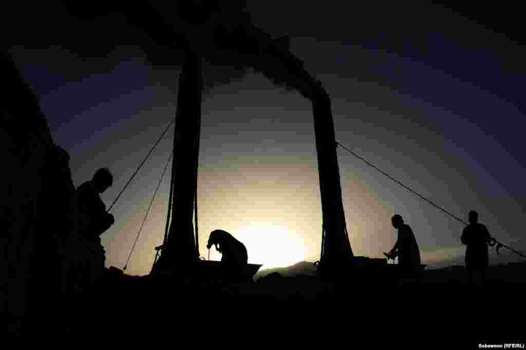 FINALIST: Afghan laborers at a brick factory outside of Kabul. (Sabawoon, Kabul bureau of RFE/RL's Radio Free Afghanistan)