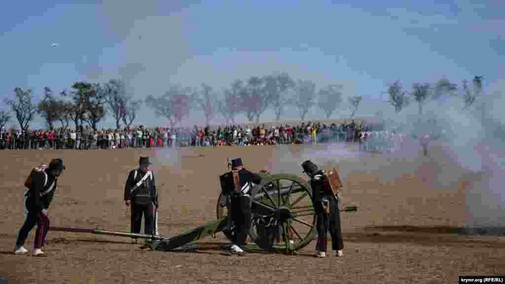 Французская артиллерия в бою