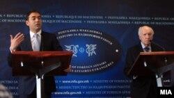 Изјави на медијаторот Метју Нимиц со министерот за надворешни работи, Никола Димитров